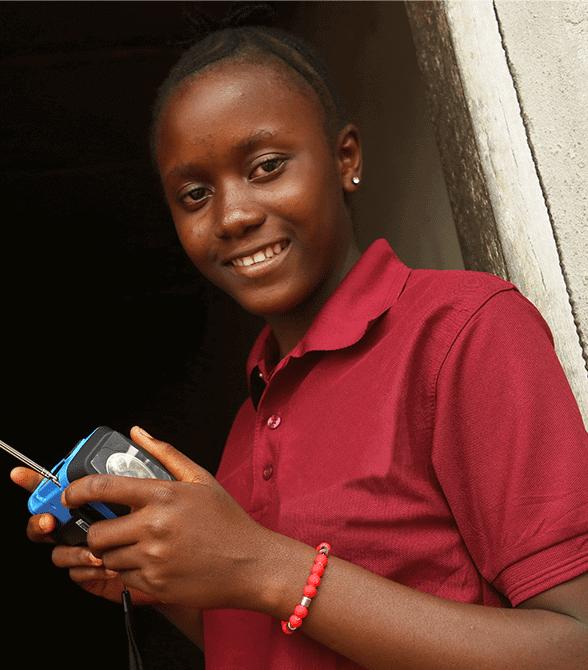 Girl Getting An Education In Sierra Leone Jeneba