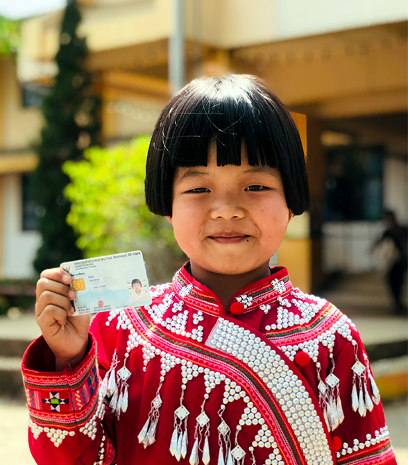 Sponsored Girl With Birth Certificate