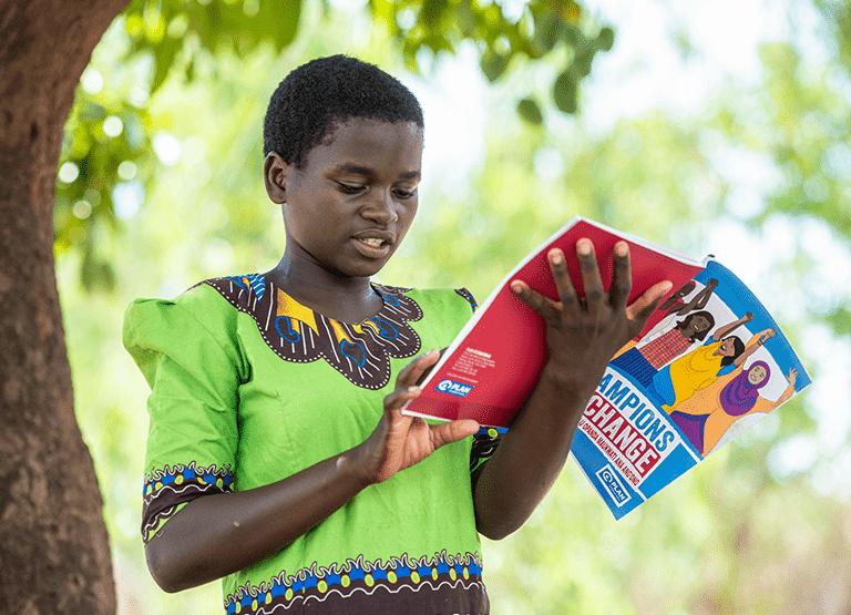 Sponsored Girl Reading Plan Material