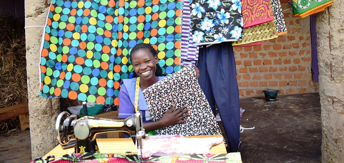 With the critical support of people like you, Gloria received a sewing machine she uses to make clothes to sell and support her family.
