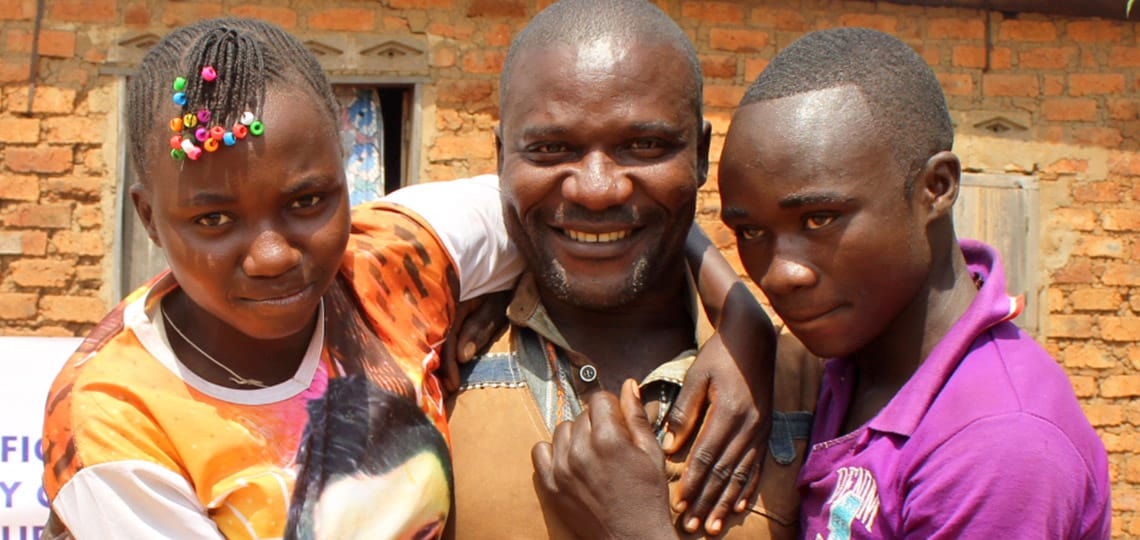 Bossin and his sister Anastasie were reunited with their father after four years apart, thanks to your support!