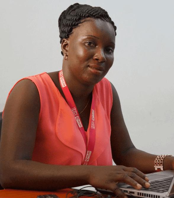Former Sponsored Child Guinea Bissau On A Computer