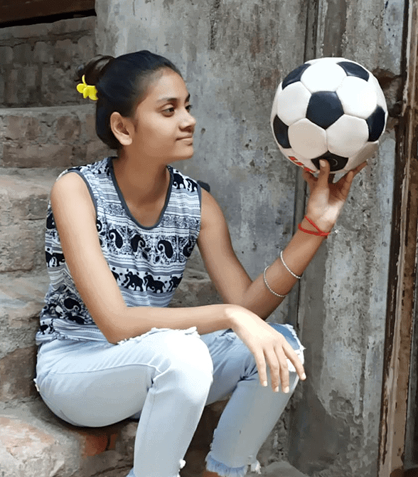 Sponsored Child India With Soccer Ball
