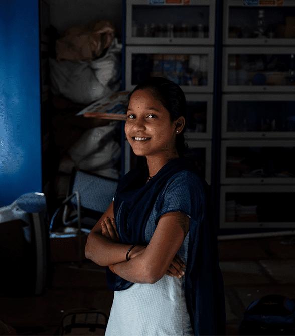 Sponsored Girl In India