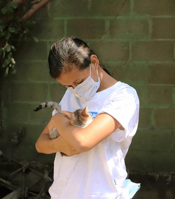 Sponsored Girl In Honduras With Cat