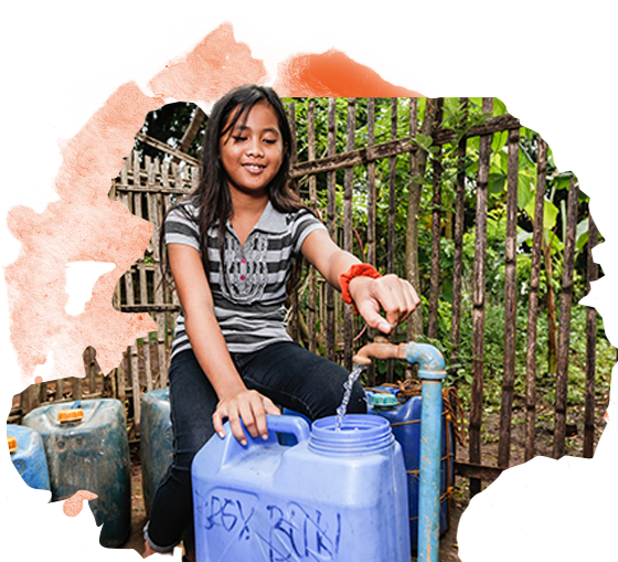 Girl In The Philippines With Clean Water