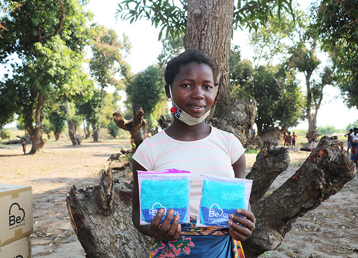 Domingas With Donated Menstrual Hygiene Products